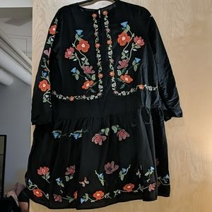 Zara Dresses - Zara floral embroidered tunic dress